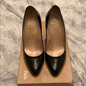 Patent leather/black Christian Louboutins